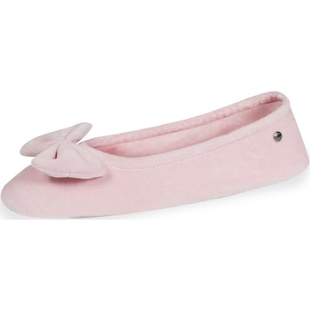Chaussures Femme Chaussons Isotoner Chaussons ballerines grand nœud Rose Clair