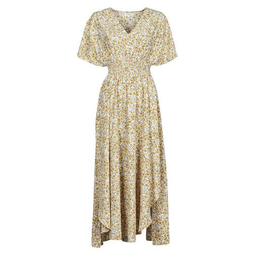 Vêtements Femme Robes longues Betty London ONINA Jaune / Blanc