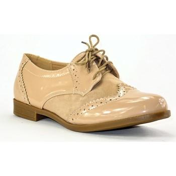 Chaussures Femme Derbies Cink-me DM633-7 BEIGE NUDE