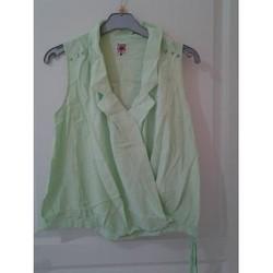 Vêtements Femme Débardeurs / T-shirts sans manche Sans marque DEBARDEUR LA MODE EST A VOUS Vert