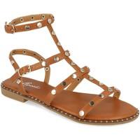 Chaussures Femme Sandales et Nu-pieds Tephani TF2255 Camel