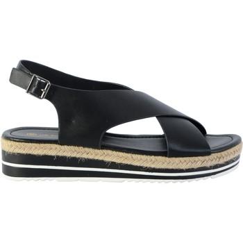 Chaussures Femme Sandales et Nu-pieds The Divine Factory Sandale TDF 4114 Noir