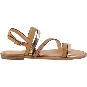 Chaussures Femme Sandales et Nu-pieds The Divine Factory Sandale Plate TX 4337 Camel