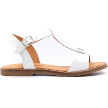 Chaussures Fille Sandales et Nu-pieds Boni & Sidonie Sandales en cuir vernis à boucles - BLANCA Blanche