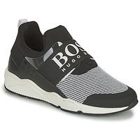 Chaussures Baskets basses BOSS NATINA Noir / Blanc
