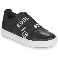 Chaussures Baskets basses BOSS KAMILA Noir / Blanc
