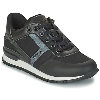 Chaussures Garçon Baskets basses BOSS FILEMONA Noir