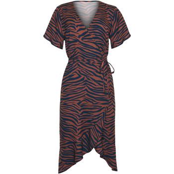 Vêtements Femme Robes Lisca Robe estivale mi-longue manches courtes Lima Marron