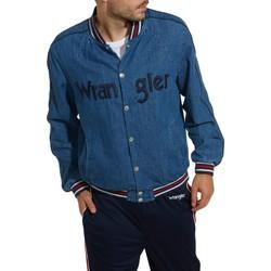 Vêtements Homme Vestes en jean Wrangler Bombers en jeans Taille : H Bleu S Bleu
