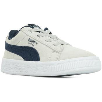 Chaussures Enfant Baskets basses Puma Inf Suede CL DNM AC gris