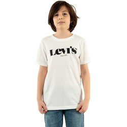 Vêtements Garçon T-shirts manches courtes Levi's graphic 001 white blanc
