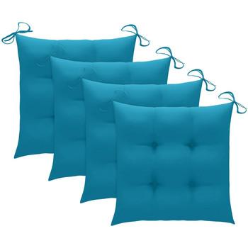Maison & Déco Coussins Vidaxl Coussin de chaise 50 x 50 x 7 cm Bleu