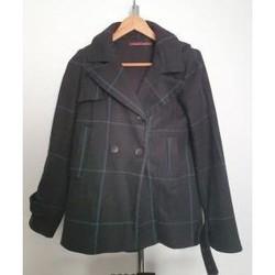 Vêtements Femme Manteaux Comptoir Des Cotonniers Manteau à capuche en laine Comptoir des cotonniers 36 Noir