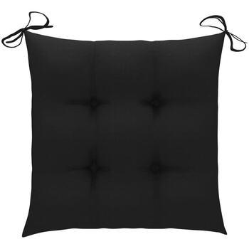 Maison & Déco Coussins Vidaxl 50 x 50 x 7 cm Noir