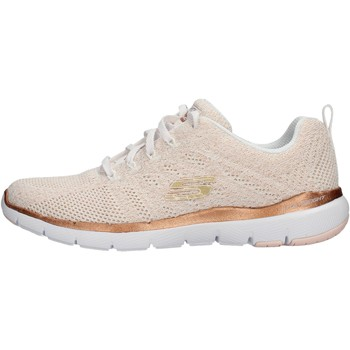 Chaussures Femme Baskets basses Skechers - Flex appeal bco/bronzo 13078 WTRG BIANCO-BRONZO