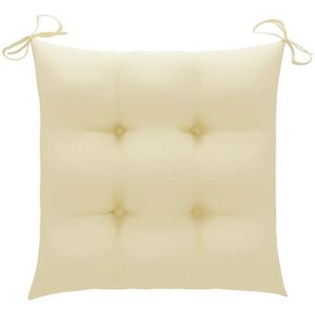 Maison & Déco Galettes de chaise VidaXL Coussin de chaise 40 x 40 x 7 cm Crème