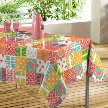Maison & Déco Nappe Adunivers NAPPE RECTANGLE 140 x 240 CM PVC IMPRIME SWEET FRUIT Multicolore