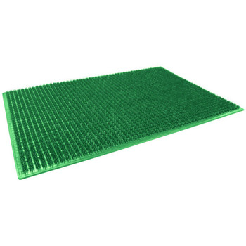 Maison & Déco Tapis Adunivers TAPIS RECTANGLE 58.5 x 38.5 CM POLYETHYLENE GRATTOIR VERT VERT