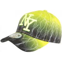 Accessoires textile Casquettes Hip Hop Honour Casquette NY Jaune et Noire Originale Baseball Tendance Eclyr Jaune