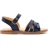 Chaussures Fille Sandales et Nu-pieds Boni & Sidonie Sandales en cuir à boucles - IRIS Bleu Marine
