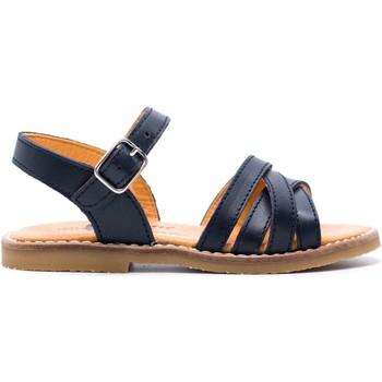 Chaussures Fille Sandales et Nu-pieds Boni & Sidonie Sandales en cuir à boucles - MINI-IRIS Bleu Marine