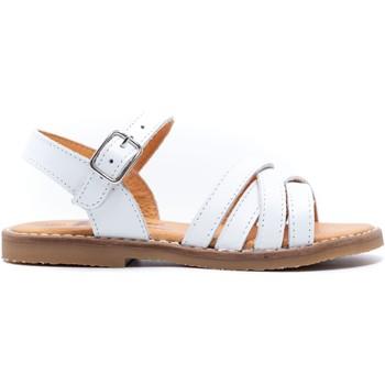 Chaussures Fille Sandales et Nu-pieds Boni & Sidonie Sandales en cuir à boucles - MINI-IRIS Blanche