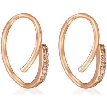 Montres & Bijoux Femme Boucles d'oreilles Mes-Bijoux.fr Boucles d'oreilles Or Rose et Diamant Doré