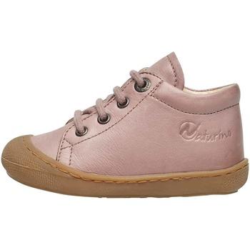 Chaussures Enfant Boots Naturino COCOON-petites chaussures premiers pas en cuir nappa rose
