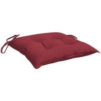 Maison & Déco Coussins VidaXL Coussin de chaise 40 x 40 x 7 cm Rouge