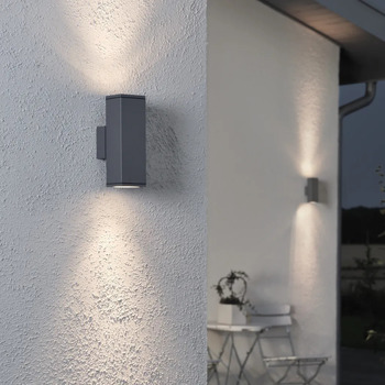 Maison & Déco Luminaires d'extérieur Konstsmide Lampe murale 10 x 6.5 x 20 cm Anthracite