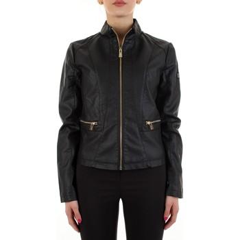 Vêtements Femme Vestes en cuir / synthétiques Yes Zee J475-G100 Noir