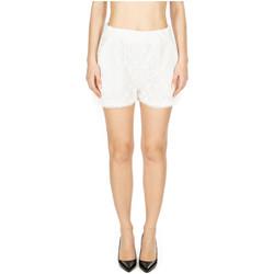 Vêtements Femme Shorts / Bermudas GaËlle Paris SHORT IN MACRAME bianco