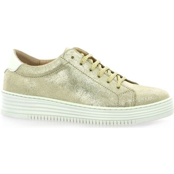Chaussures Femme Baskets basses So Send Baskets cuir laminé Or