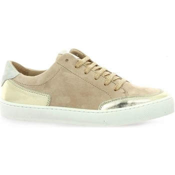 Chaussures Femme Baskets mode So Send Baskets cuir velours  nude Nude