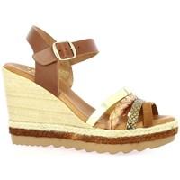 Chaussures Femme Sandales et Nu-pieds Ettê Ettê Nu pieds cuir Cognac