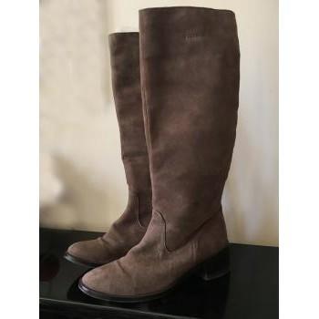 Chaussures Femme Bottes ville Vibram Fivefingers BOTTES  DAIM 35 Marron