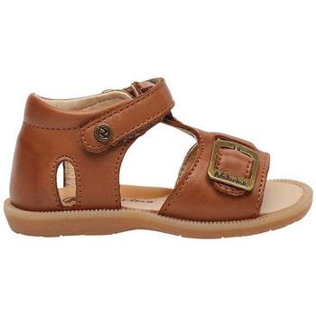 Chaussures Enfant Sandales et Nu-pieds Naturino QUARZO-Sandale en cuir avec Velcro® beige