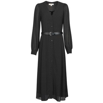 Vêtements Femme Robes longues MICHAEL Michael Kors CRINKLE DOTS KATE DRS Noir