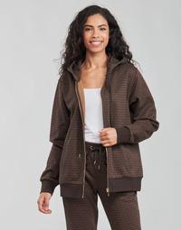 Vêtements Femme Sweats MICHAEL Michael Kors UNISEX MK DOT ZIP HOODIE Marron