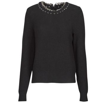 Vêtements Femme Pulls MICHAEL Michael Kors CHAIN NK SWEATER Noir