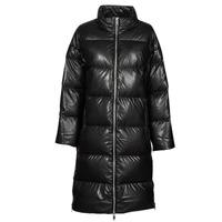 Vêtements Femme Doudounes MICHAEL Michael Kors LONG FAUX LTHR PUFFER Noir