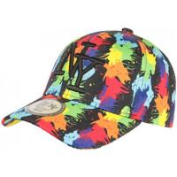 Accessoires textile Casquettes Hip Hop Honour Casquette NY Noire et Rouge Patchwork Pop Art Baseball Arlyq Noir