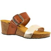 Chaussures Femme Mules Plakton brock oro camello jaune