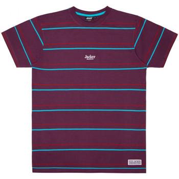 Vêtements Homme T-shirts manches courtes Jacker Rtk stripes Violet