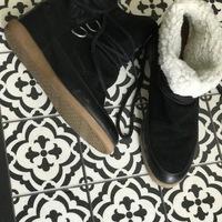Chaussures Femme Boots Bocage pieds bien au chaud Noir