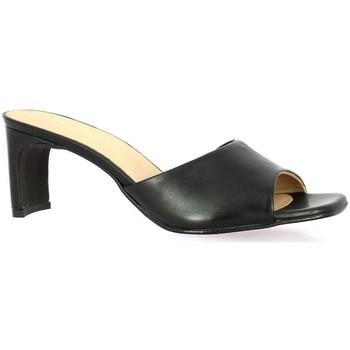 Chaussures Femme Claquettes So Send Mules cuir Noir