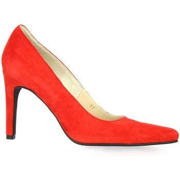 Chaussures Femme Escarpins Vidi Studio Nu pieds cuir velours rouge