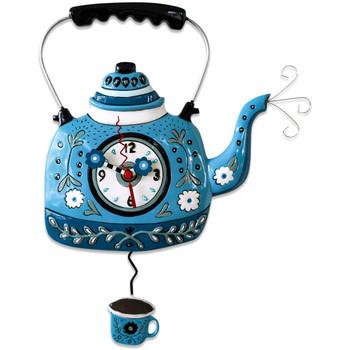 Maison & Déco Horloges Gourmandise Pendule Théière Bleue by Allen Bleu