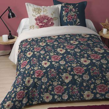 Maison & Déco Parures de lit Zen Et Ethnique Parure de lit Flore 220 x 240 cm Bleu
