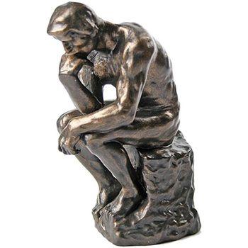 Maison & Déco Statuettes et figurines Muzeum Reproduction du Penseur de Rodin - 15 cm Marron